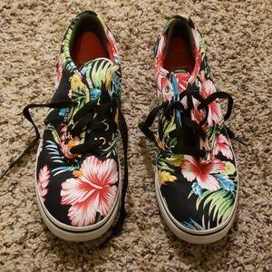 Vans Hawaiian Flower Sneakers Sz 7.5